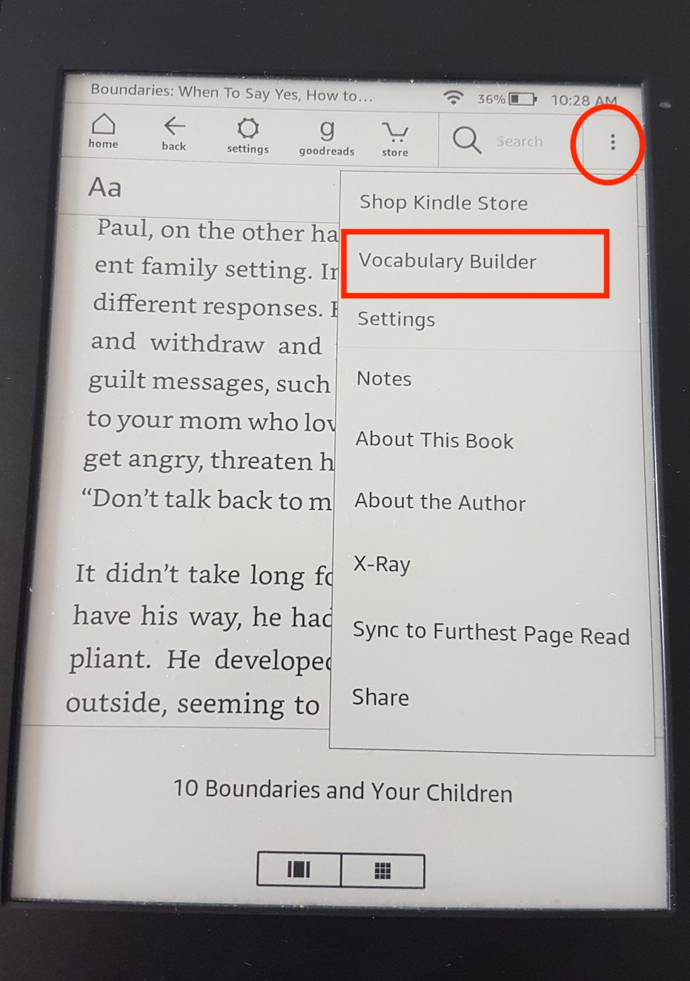 Kindle Vocabulary Builder